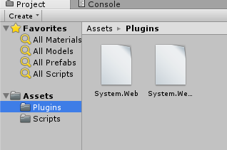 How to call ASP.NET Web Service in unity3d - Plugin folder