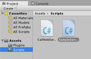 How to call ASP.NET Web Service in unity3d - Scripts Folder