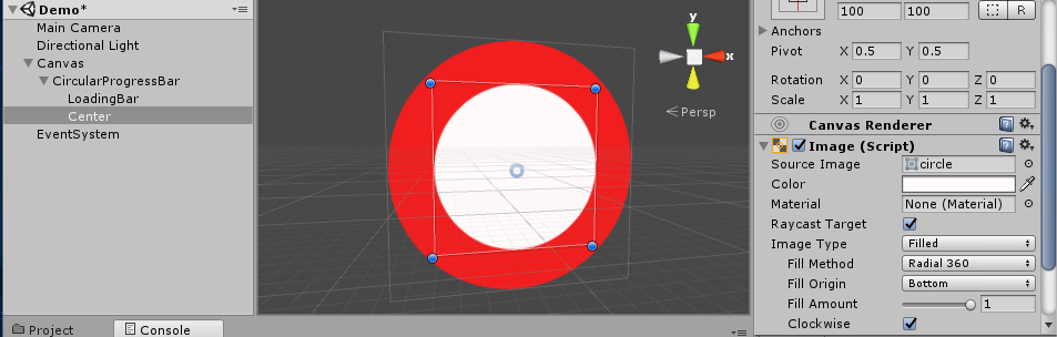 Radial/ Circular Progress Bar in unity3d - Gyanendu