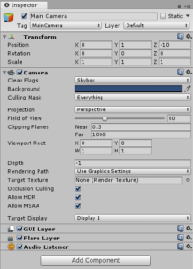 Learning Unity Interface - Inspector