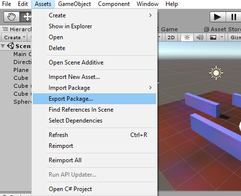 Export and Import Unity Package- ExportNavigate