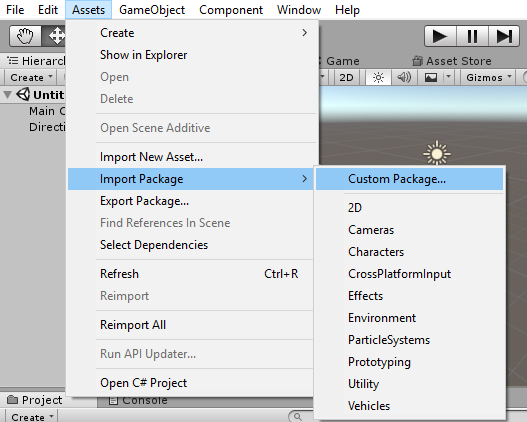 Export and Import Unity Package -ImportNavigate