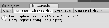 REST Web Service in unity3d - Result Unity Web Request Console