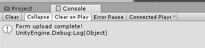 REST Web Service in unity3d - Result WWW Console