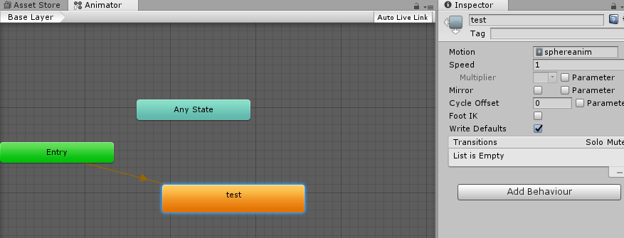 Create and play animation at runtime