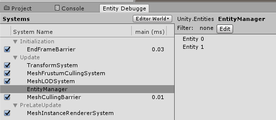 Getting started with Entity Component System (ECS): Unity