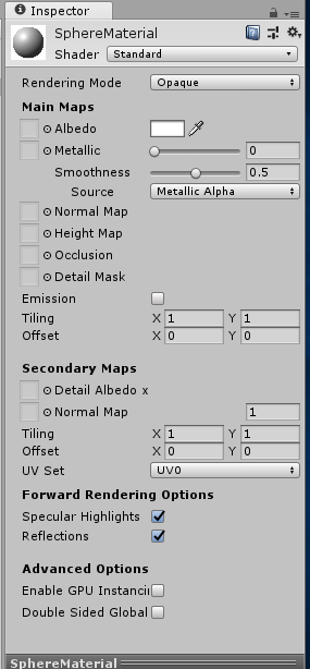 Change Material and its properties at runtime: Unity