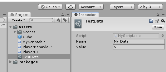 Working with Scriptable Objects: Unity Tutorial - Gyanendu Shekhar's